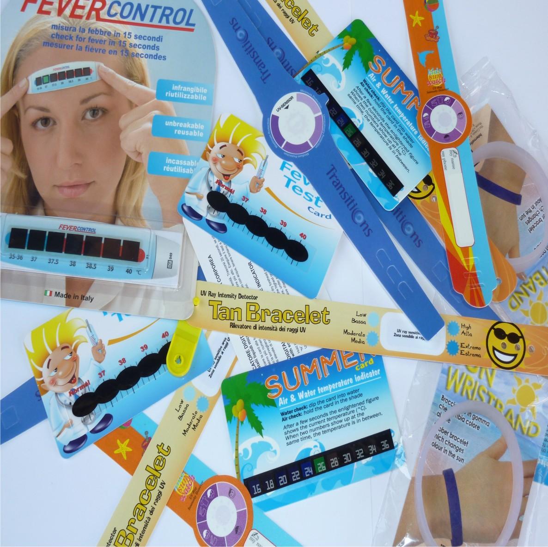 carduri tip termometru si indicator UV